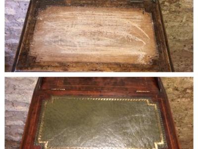 desk leather restoration